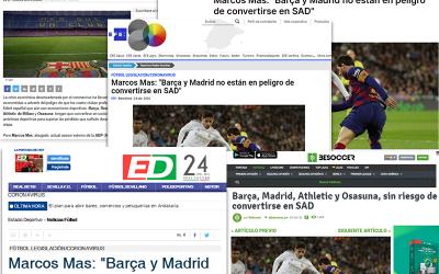 Marcos Mas resuelve las dudas sobre las Asociaciones Deportivas en una entrevista a la Agencia EFE