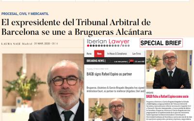Brugueras, Alcántara & García-Bragado Abogados ficha a Rafael Espino