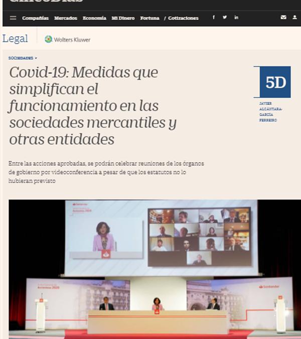 Covid-19: Medidas que simplifican el funcionamiento en las sociedades mercantiles y otras entidades