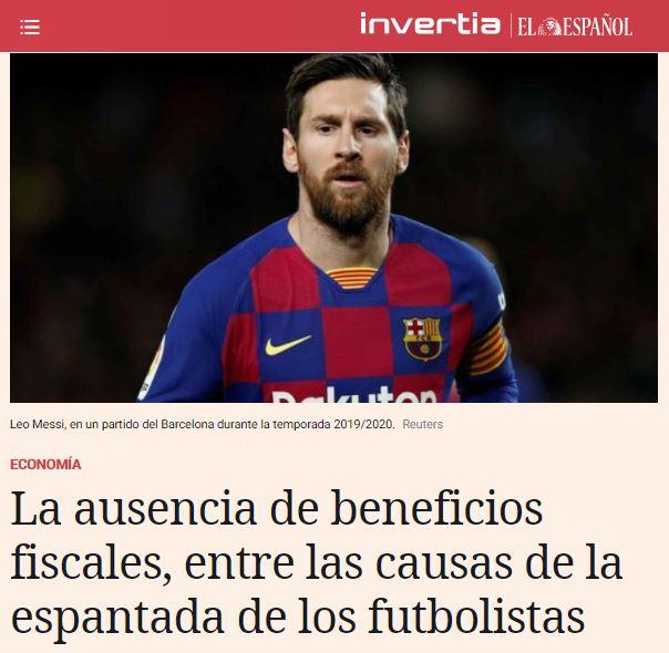 El Español | Invertia entrevista a Marcos Mas, experto en Deportivo, sobre la fiscalidad de los deportistas de élite