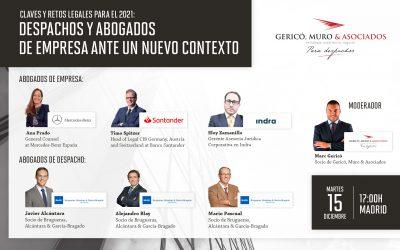 Brugueras, Alcántara & García-Bragado participa en un webinar sobre retos legales para 2021