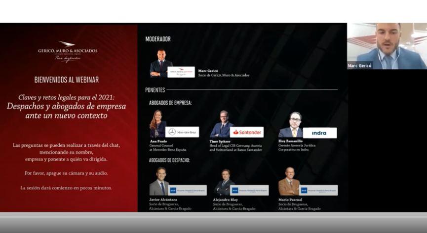 Webinar: Claves y retos legales para el 2021: despachos y abogados de empresa ante un nuevo contexto